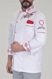 Aşçı Ceketi Komi Şef Ceketi Nakışlı Şef Aşçı İş Elbiseleri