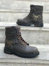 Kahverengi Bayan Bot Ayakkabı