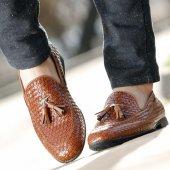 Conteyner 318 Hasır Örgü Taba Casual Erkek Ayakkabı