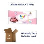 Uni Baby Cream Islak Havlu Mendil 24lü