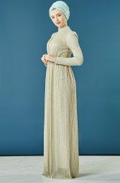2nıq Abiye Elbise Gümüş Pn8151 06