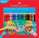 Faber Castell Karton Kutu Aquarel Boya Kalemi 24 Renk