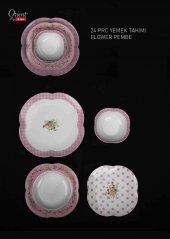 Aryıldız Orient 24 Parça Yemek Takımı Flower Pembe