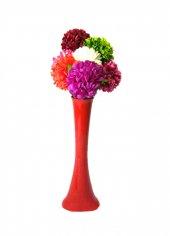 7 Renk Ortanca Kırılmaz 60 Cm Kırmızı Vazo
