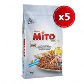 Mito Mix Kedi Maması 1 Kg 5 Paket