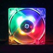 8 Cm. Ledli Işıklı Kasa Fanı (4 Renkli)