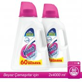 Vanish Kosla Oxi Action Kristal Beyaz 4000 Ml X 2 Adet