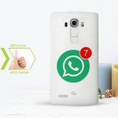 Kişiye Özel Lg G4 İnce Şeffaf Silikon Telefon Kapağı (Whatsapp 2)