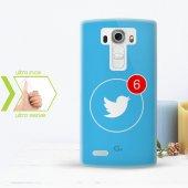 Kişiye Özel Lg G4 İnce Şeffaf Silikon Telefon Kapağı (Twitter 1)