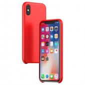 Baseus Original İphone X Kırmızı Silikon Kılıf Arka Koruyucu Kapak