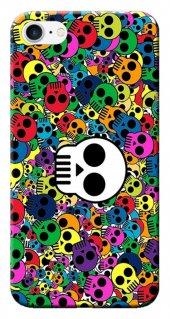 Iphone 6 6s Kılıf Silikon Baskılı Kuru Kafalar Stk 165