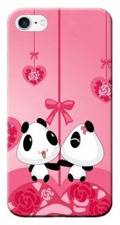 Iphone 6 6s Kılıf Silikon Baskılı Pandalar Stk 166
