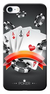 Iphone 6 6s Kılıf Silikon Baskılı Poker Aaaa Stk 219