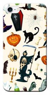 Iphone 6 6s Kılıf Silikon Baskılı Halloween Cat Stk 286
