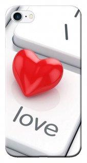 Iphone 6 6s Kılıf Silikon Baskılı Red Love Stk 303