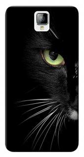 General Mobile Discovery 2 Kılıf Silikon Baskılı Face Cat Stk 482