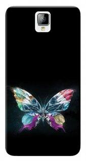 General Mobile Discovery 2 Kılıf Silikon Baskılı Kelebek Resim St
