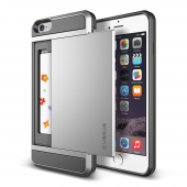 Verus İphone 6 Plus 6s Plus Damda Slide Kılıf Light Silver