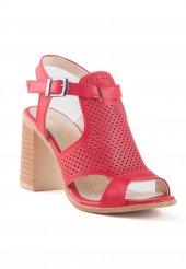 Camille Kırmızı Cilt Topuklu Bayan Ayakkabı