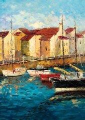 Ks Games 11339 Sailboats On Waterfront 500 Parça Puzzle
