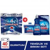 Finish Quantum 40 Tablet Bulaşık Makinesi Deterjanı + Temizlik Ve