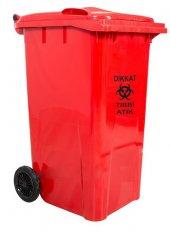 Hafea Plastik Tıbbi Atık Çöp Konteyneri 110 Lt A+ Kalite Isıya Dayanıklı Tıbbi Atık Kovası