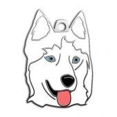 Dalis Pet Tag Sibirya Kurdu Köpek Künyesi (Beyaz)