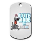 Dalis Pet Tag Cute Mode Is On (Mavi) Köpek Künyesi