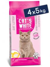 Cats White Bebek Pudrası Kokulu Topaklaşan Doğal Bentonit Kedi Ku