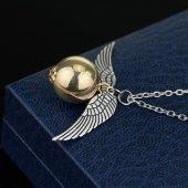 Harry Potter Golden Snıtch Melek Kanatları Metal Kolye