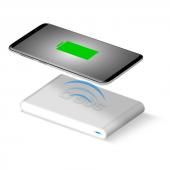 Sbs Masa Üstü Kablosuz Hızlı Şarj Cihazı 100 250v Beyaz