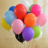 Normal Mat Klasik Karışık Renk 50 Adet Balon