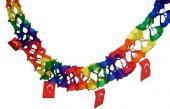 23 Nisan Açılır Türk Bayrağı Süs Türk Bayrağı Zincir Süs Bayrak