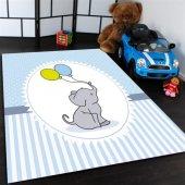 Sevimli Fil Desenli Çocuk Odası Halısı
