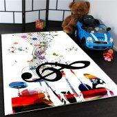 Sol Anahtarı Desenli Çocuk Odası Halısı