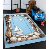 Gemi Desenli Çocuk Odası Halısı