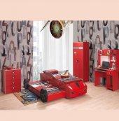 Farinay Kırmızı Yavru Araba Yataklı Genç Odası Takımı