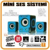 Radyolu Kart Ve Usb Okuyuculu Kumandalı Speaker Hoparlör Mavi S40