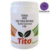 Tito Tgb26 Toz Mor Gıda Boyası Renklendirici Suda Çözünür 1 K