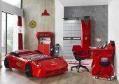 Farinay Mobilya İstanbul Pıt4 Garage Set, Araba Yataklı Çocuk Oda