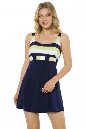 Argento 1010 Kadın Şortlu Elbiseli Mayo
