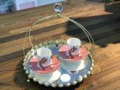 Kokosh Home Kedi Desenli 2li Kahve Fincan Takımı Pembe