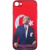 Iphone 8 3d Atatürk Desenli Silikon Kılıf