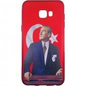 Sunix Samsung Galaxy C7 3d Atatürk Desenli Silikon Kılıf