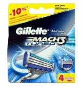 Gillette Mach3 Turbo Bıçak 4lü Yedek