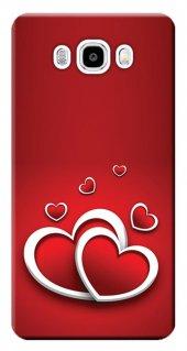 Samsung Galaxy J5 Kılıf Sm J500 Silikon Baskılı Kalpler Stk 555