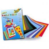 Folia Velur Kumaş Kaplı Kağıt 130 Gr. 50x70 Cm. 10 Renk