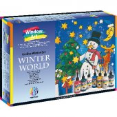 Nerchau Window Art Set &quotwinter World&quot 8 Renk X 80 Ml +