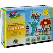 Nerchau Window Art Set &quotsun & Fun&quot 8 Renk X 80 Ml + Aks