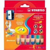 Stabilo Woody 3 İn 1 Crayon (Kuru Boya + Pastel Boya + Sulu Boya)